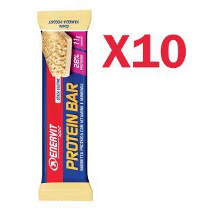 Enervit Sport Protein Bar gusto Vaniglia-Yogurt, conf 10 barrette proteiche con vitamine e minerali, senza glutine