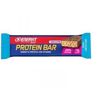 Enervit Sport Protein Bar gusto Cocco-Ciok, barretta proteica da 40g con vitamine e minerali, senza glutine