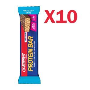 Enervit Sport Protein Bar gusto Cocco-Ciok, conf 10 barrette proteiche con vitamine e minerali, senza glutine