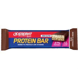 Enervit Sport Protein Bar gusto Chocolate & Cream, barretta proteica da 45g con vitamine e minerali, senza glutine