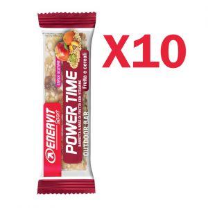 Enervit Sport Power Time Outdoor Bar Frutta e Cereali, conf 10 barrette energetiche da 27 grammi, senza glutine
