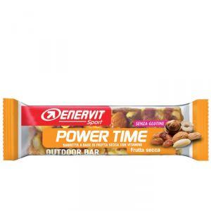 Enervit Sport Power Time Outdoor Bar Frutta Secca, barretta energetica da 35 grammi, senza glutine