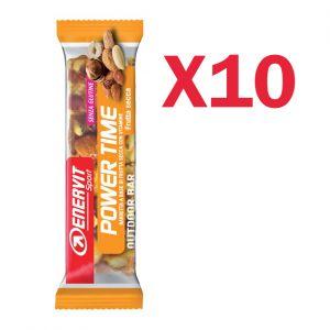 Enervit Sport Power Time Outdoor Bar Frutta Secca, conf 10 barrette energetiche da 35 grammi, senza glutine