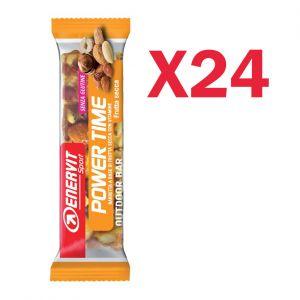 Enervit Sport Power Time Outdoor Bar Frutta e Cereali, box 24 barrette energetiche da 35 grammi, senza glutine