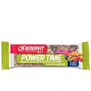 Enervit Sport Power Time Outdoor Bar Arachidi e Mirtilli, barretta energetica da 30 grammi, senza glutine