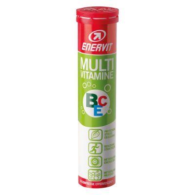 Enervit Multivitamine in Tubo da 20 compresse effervescenti gusto AGRUMI - Integratore Alimentare per un Mix Vitaminico