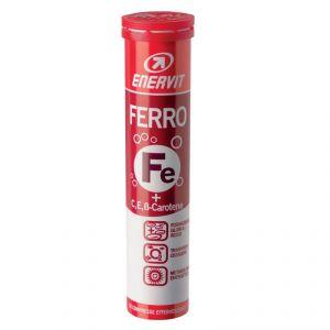 Enervit Ferro in Tubo da 20 cpr effervescenti gusto Mix Frutta - Integratore di Ferro + Vitamina C ed E + Betacarotene