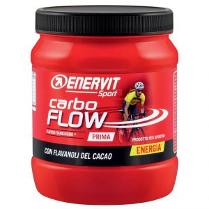 ENERVIT CARBO FLOW in Barattolo da 400g gusto CACAO - Energetico a base di carboidrati e a basso contenuto di grassi