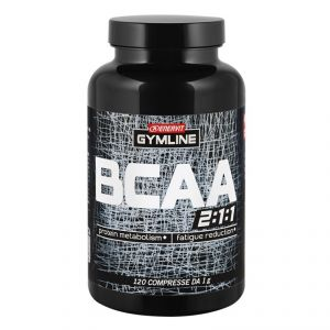 Enervit Gymline Muscle Bcaa 2:1:1 barattolo 120 compresse - Amminoacidi ramificati arricchiti con vitamine B1 e B6