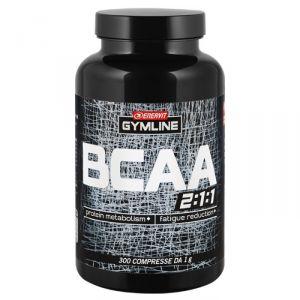 Enervit Gymline Muscle Bcaa 2:1:1 barattolo 300 compresse - Amminoacidi ramificati arricchiti con vitamine B1 e B6