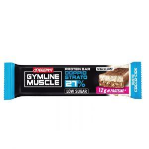 Enervit Gymline Muscle Protein Bar 27% gusto Cocco-Ciok - Barretta proteica da 45g, con mix di vitamine