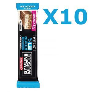 Enervit Gymline Muscle Protein Bar 27%, conf 10 barrette Cocco-Ciok - Barretta proteica da 45g, con mix di vitamine