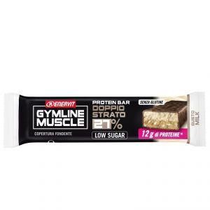 Enervit Gymline Muscle Protein Bar 27% Gluten Free, gusto Milk-Ciok - Barretta proteica da 45g, con mix di vitamine