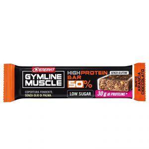 Enervit Gymline High Protein Bar 50% Arancia Cioccolato Senza Glutine - Barretta da 60g con proteine e vitamine