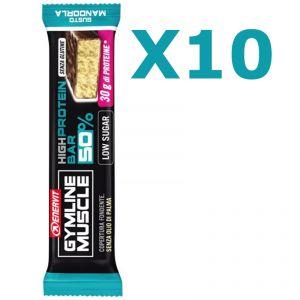 Enervit Gymline High Protein Bar 50% Mandorla Senza Glutine - Conf 10 barrette da 60g con proteine e vitamine