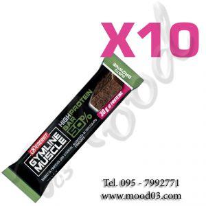 Enervit Gymline High Protein Bar 50% Brownie Senza Glutine - Conf 10 barrette da 60g con proteine e vitamine