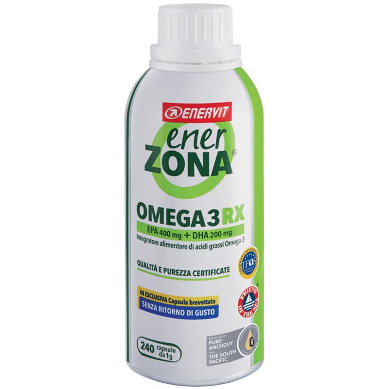 """ENERZONA OMEGA 3 RX in Barattolo da 240 cps (da 1 grammo) - Integratore di acidi grassi Omega 3 """"SENZA RITORNO DI GUSTO"""""""