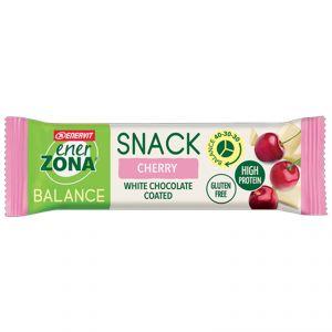 ENERZONA SNACK BALANCE CHERRY 40-30-30 Barretta da 33 g AMARENA - CIOCCOLATO BIANCO - Snack ricco di proteine e fibre