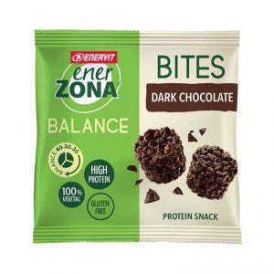 Enerzona Minirock 40-30-30 Bites Minipack 24 g Cioccolato Fondente - Ricco in Proteine, con Fibre - Senza Glutine