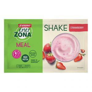 Enerzona Instant Meal 40-30-30 Shake Busta 50 g Fragola-Yogurt - Con Proteine e Magnesio - Senza coloranti e conservanti