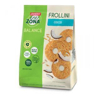 ENERZONA FROLLINI BALANCE 40-30-30 in Sacchetto da 250 g gusto COCCO - Biscotti ricchi in proteine e in fibre