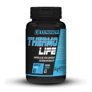 EUROSUP THERMO LIFE in barattolo da 45 cpr - Controllo del peso corporeo, Sostegno metabolico, Tonico, Antiossidante