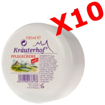 10X PFLEGECREME SOFT - KIT MAXI RISPARMIO con 10 Barattoli di Delicate Creme Corpo in Barattoli da 100 ml