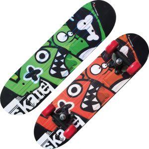 NEXTREME TRIBE MONSTERS - Skateboard dal design accattivante per l'utilizzo di bambini e ragazzi - Dimensioni 60x15 cm