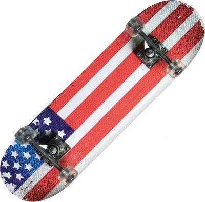 TRIBE PRO  USA FLAG - Skateboard accattivante con bandiera degli Stati Uniti! Misure 79x20 cm - Peso max utente 90 kg