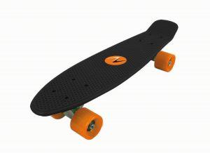 SKATEBOARD FREEDOM con tavola NERA e ruote ARANCIO - Dimensioni 57x15,2 - Peso Max Utente 80 kg