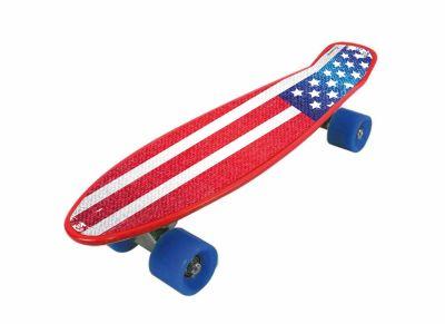 SKATEBOARD FREEDOM PRO USA FLAG con bandiera americana e ruote blu - Dimensioni 57x15,2 - Peso Max Utente 80 kg