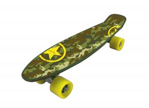 FREEDOM PRO MILITARY Skateboard militarizzato con ruote gialle - Dimensioni 57x15,2 - Peso Max Utente 80 kg
