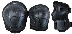 Set di protezion KIDS nero con Ginocchiere, Gomitiere e Parapolsi - Peso utilizzatore fino a 25 kg