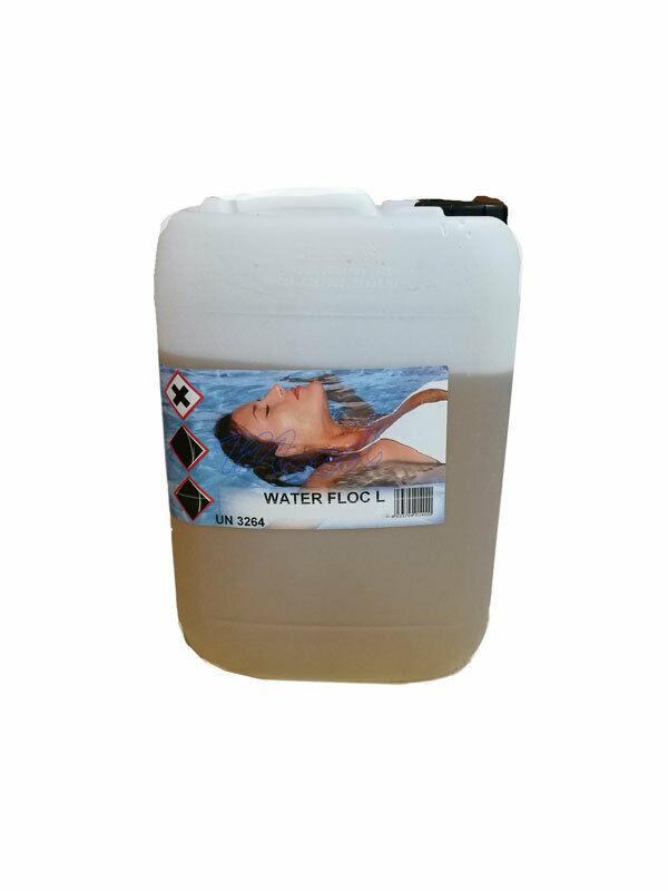 WATER FLOC WATERLINE 30 KG - Flocculante liquido ad alta concentrazione per piscina a potente azione schiarente