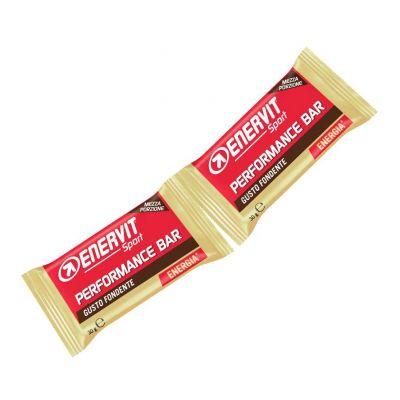 Enervit Performance Bar Double gusto cioccolato fondente extra, barretta con 2 porzioni da 30 grammi
