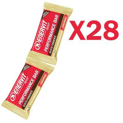 Enervit Performance Bar Double gusto cioccolato fondente extra, 28 barrette con 2 porzioni da 30 grammi
