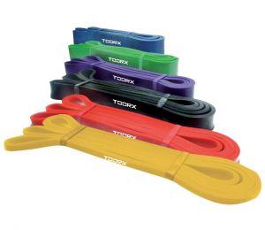 Power Band elastico di resistenza ad anello extra-strong, colore blu - Dimensioni 2080 x 4,5 x 64 mm