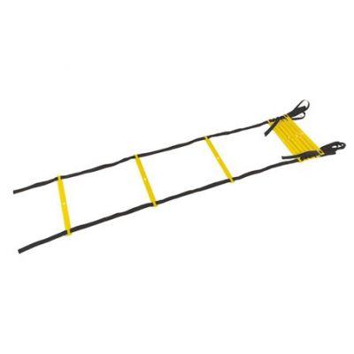 Scaletta veloce m. 4,50 con 9 pioli e sacca, colore nero gialla