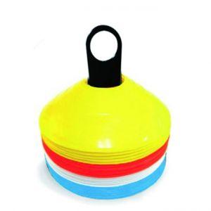 Set 24 coni agility a marchio Toorx, 4 colori, porta cinesini incluso