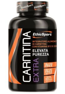 ETHICSPORT CARNITINA EXTRA 90 COMPRESSE Integratore di Carnitina con Vitamina B12 e Zinco ideale per sport di Endurance