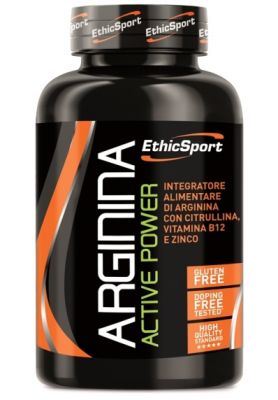 ARGININA ACTIVE POWER 90 COMPRESSE ETHICSPORT - Integratore di Arginina ad alto dosaggio + Citrullina, Vit B12 e Zinco