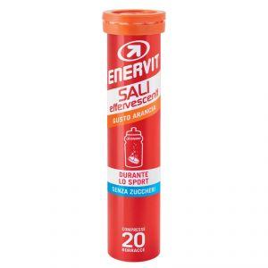 Enervit Sali Effervescenti Arancia, tubetto con 20 compresse - Integratore di sali minerali e vitamine, senza zucchero