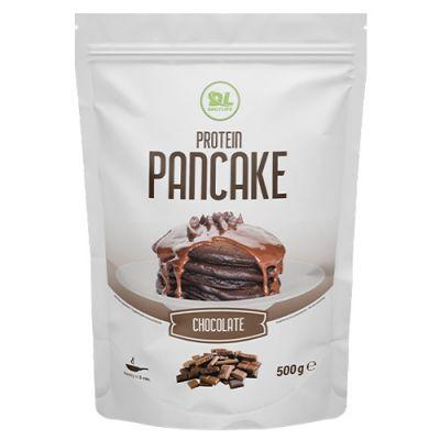 PROTEIN PANCAKE DAILY LIFE Confezione 500g gusto CIOCCOLATO Preparato per Pancakes con oltre il 39% di proteine!