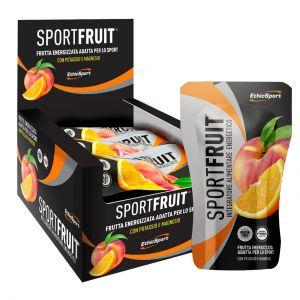 SPORT FRUIT PESCA-ARANCIA ETHICSPORT 15 PACKS DA 42 GRAMMI - Frutta Solidificata ed Energizzata per Energia Graduale