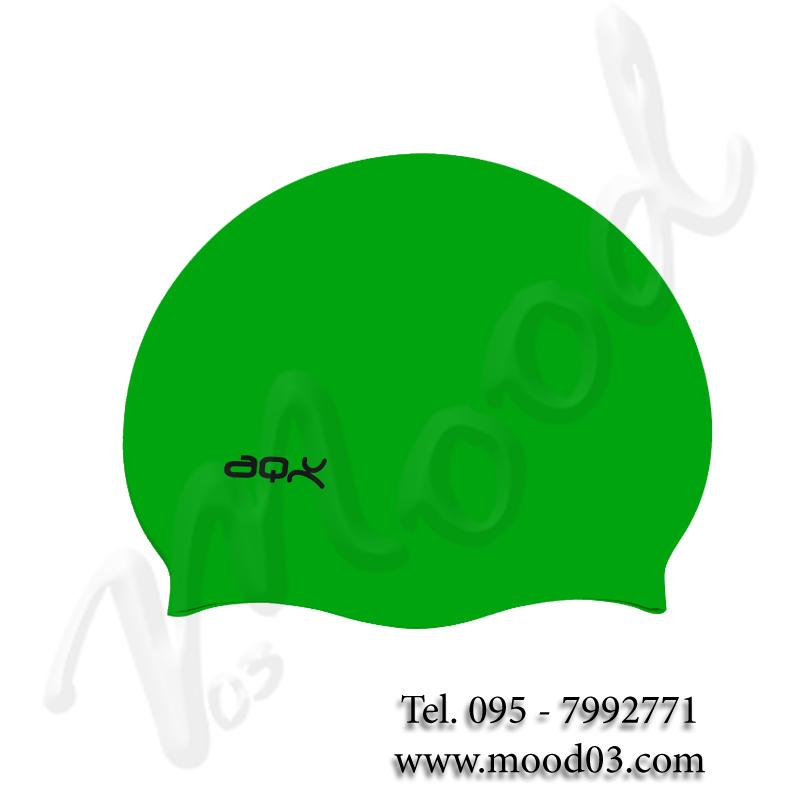 CUFFIA NUOTO IN SILICONE AQQUATIX Cuffietta Piscina colore VERDE - Confezionate in Busta