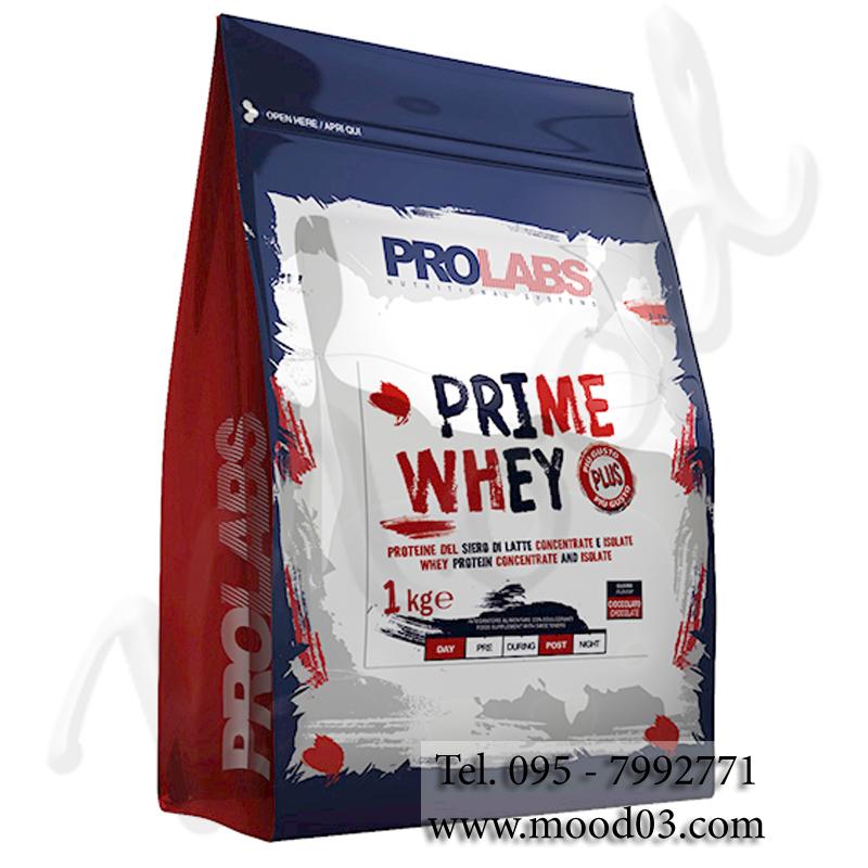 """PRIME WHEY Busta 1 kg gusto CACAO - Proteine del Latte Isolate e Concentrate """"NUOVI AROMI CON GUSTO ECCEZIONALE"""""""