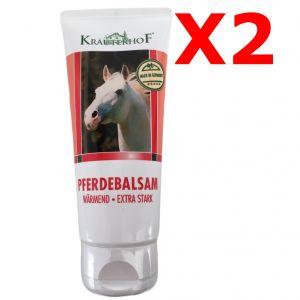 2X PFERDEBALSAM WÄRMEND EXTRA STARK - Set di 2 tubetti da 100 ml di Balsamo cavallo riscaldante extra-forte