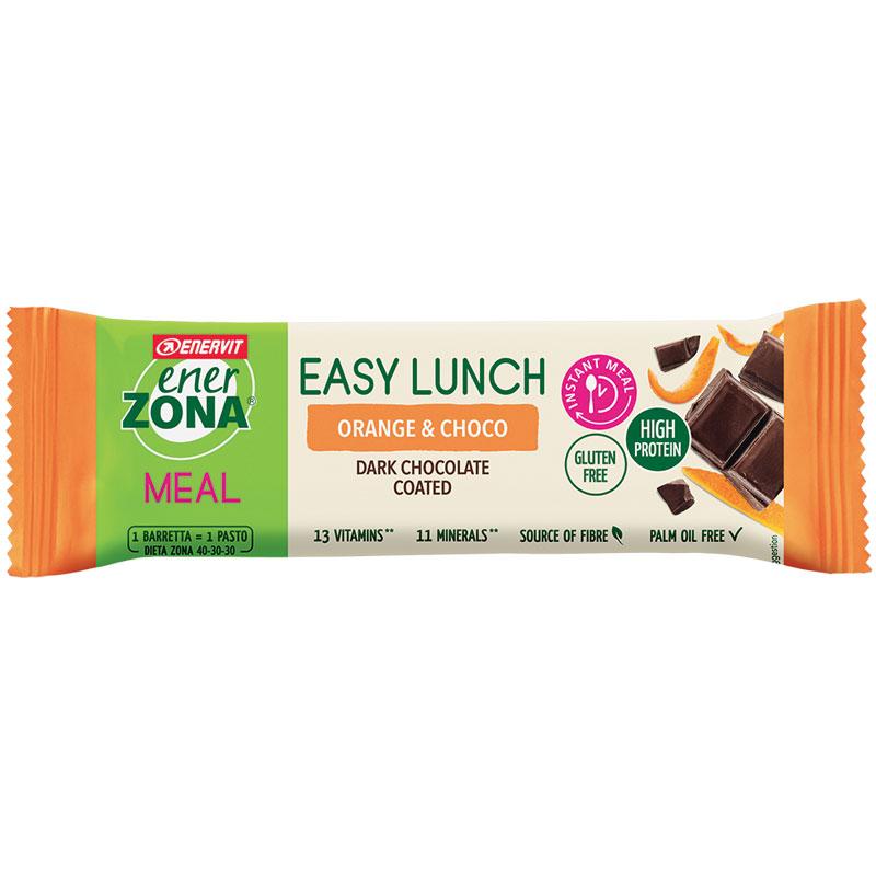 Enerzona Nutrition Bar 40-30-30 Easy Lunch Orange & choco - Barretta Proteica 58g gusto Arancia e Cioccolato