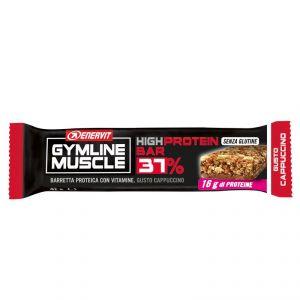 Enervit Gymline High Protein Bar 37% Cappuccino Senza Copertura - Barretta Proteica da 42 g con vitamine