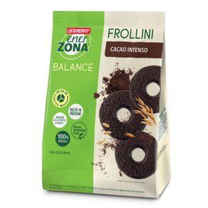 ENERZONA FROLLINI 40-30-30 in Sacchetto da 250g gusto FONDENTE INTENSO - Biscotti ricchi in proteine e in fibre